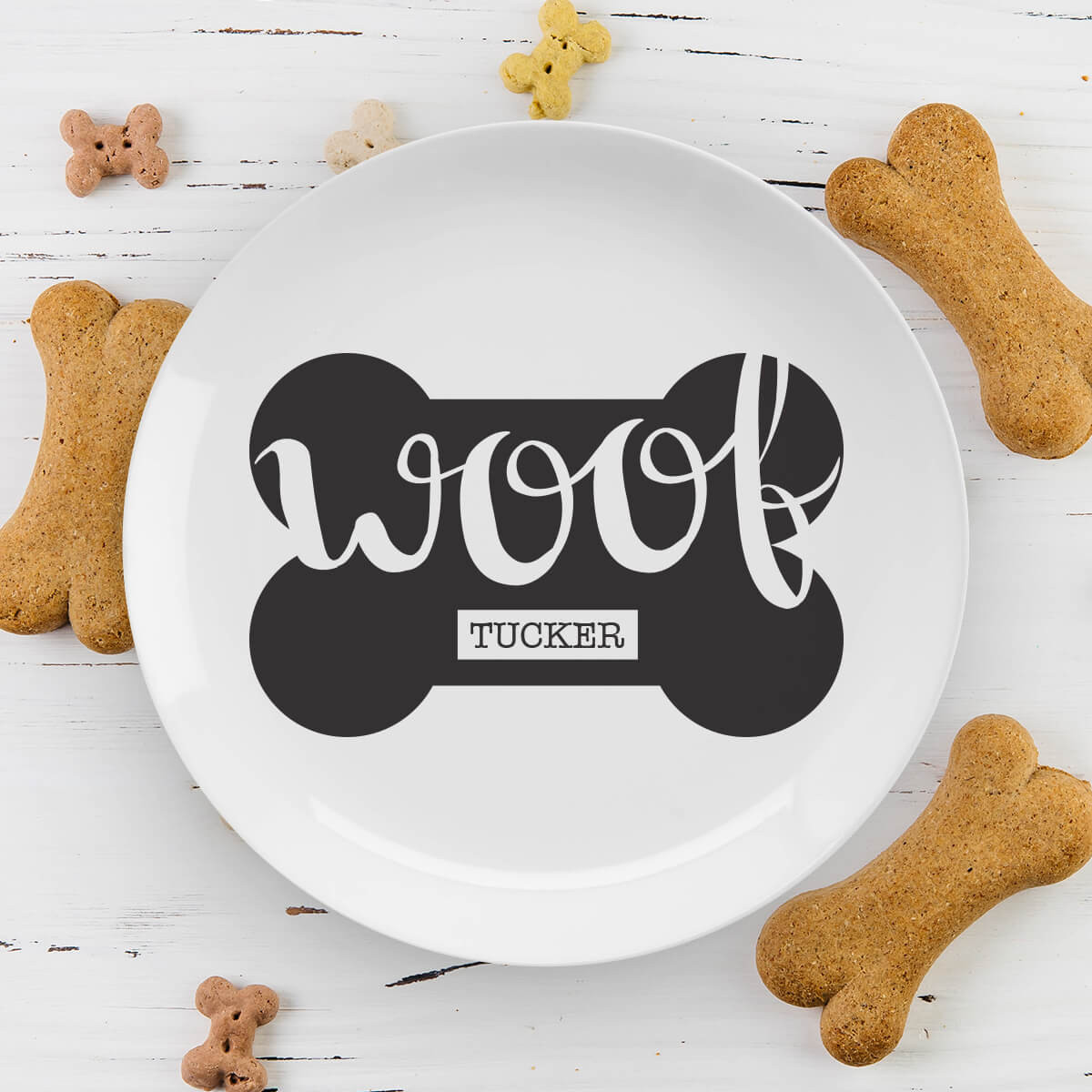 personalised woof plate