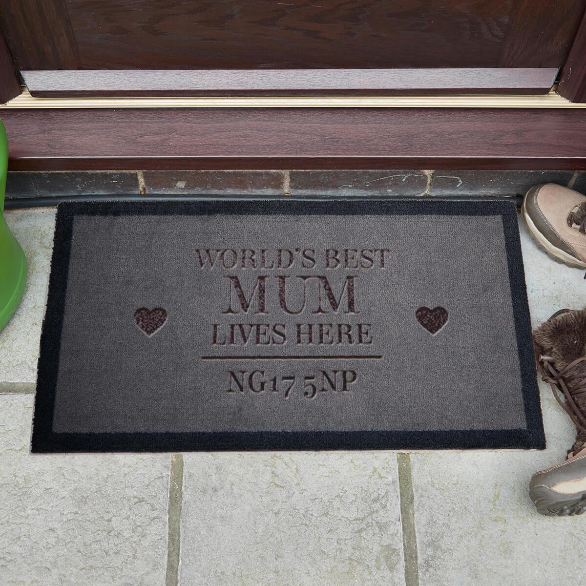 personalised mum doormat