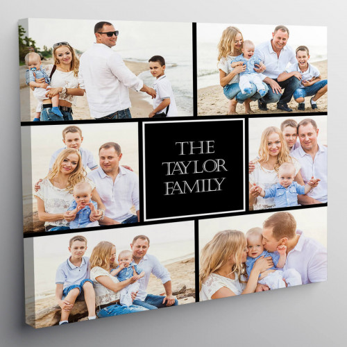 "Personalised 12x12"" Photo Collage Canvas"