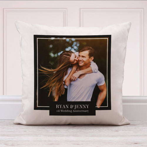 personalised 1st Wedding Anniversary Photo Cushion