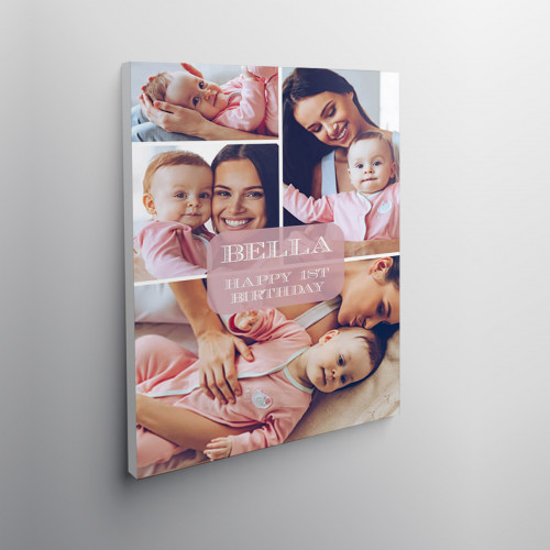 "24x16"" personalised New Baby Collage Canvas"