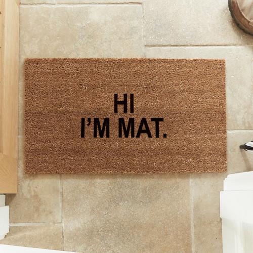 personalised 2 line doormat
