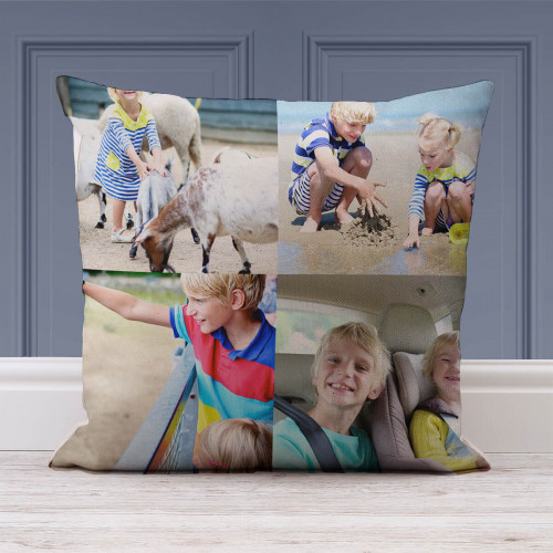 Personalised 2x2 Collage Cushion