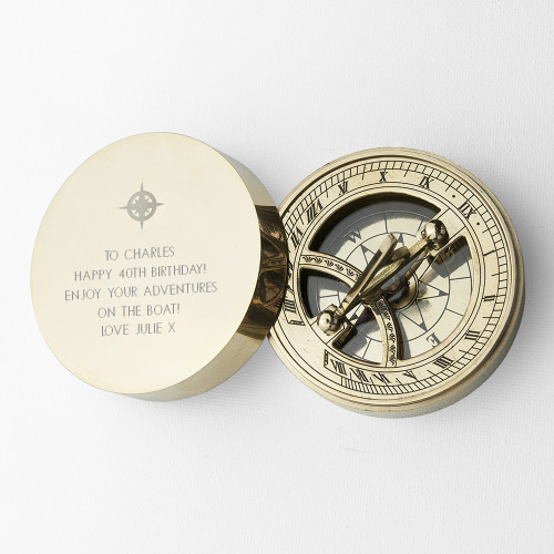 40th Brass Nautical Compass