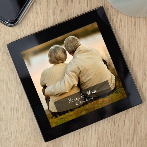 Personalised Glass Photo Coaster