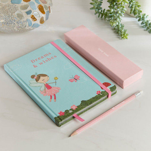 personalised Large Pink Forest Fairies Dreams & Wishes Gift Set