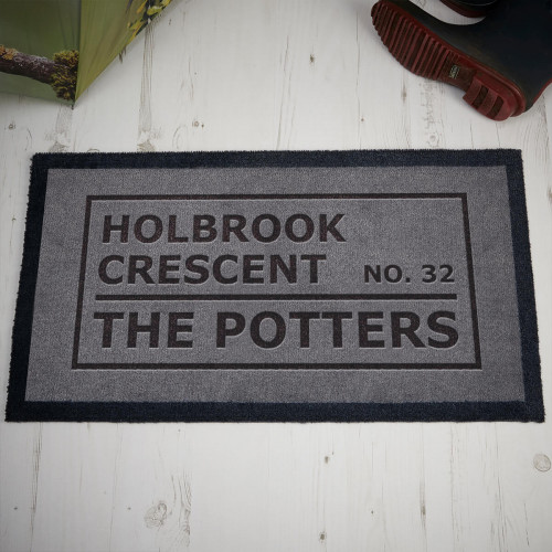 personalised address family doormat