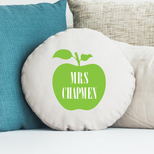 teacher apple round cushion