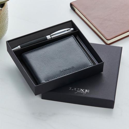 personalised Baritone Pen & Wallet Gift set