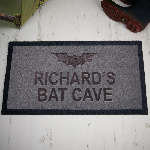 personalised Bat Cave Doormat