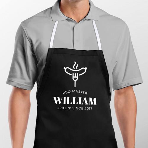 personalised BBQ Master Men's Apron
