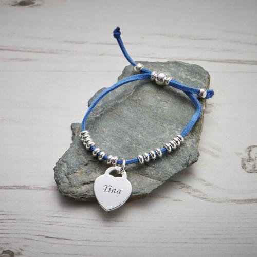 Personalised Blue Benitas Friendship Bracelet