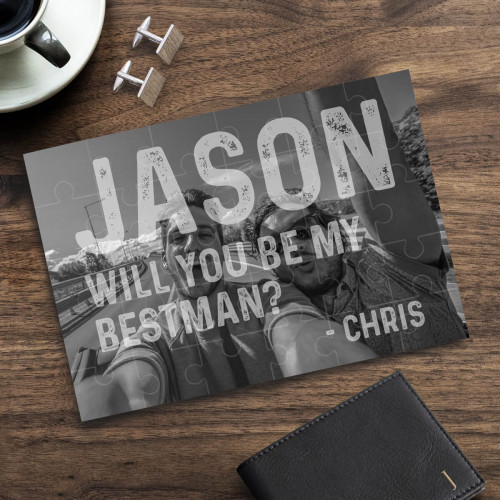 personalised Will You Be My Best Man Photo Jigsaw Puzzle