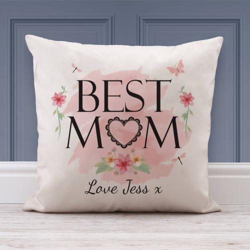 personalised Best Mum Cotton Cushion