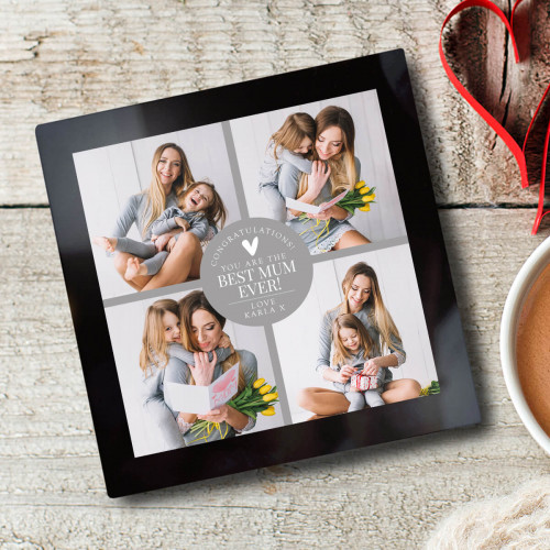 Personalised Photo Glass Coaster