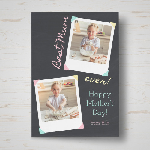 personalised Best Mum Ever Mother's Day Card