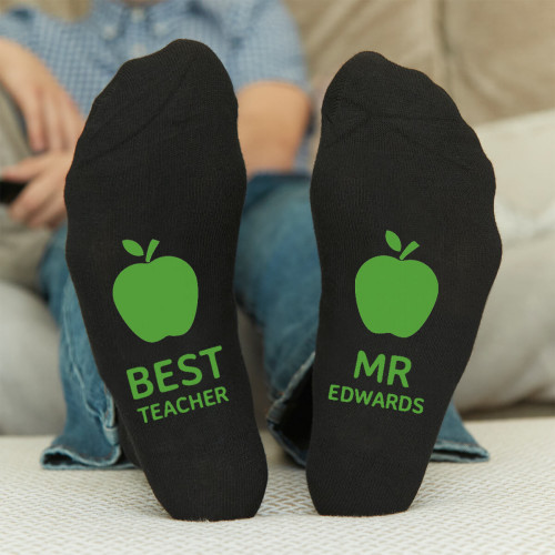 personalised best teacher socks