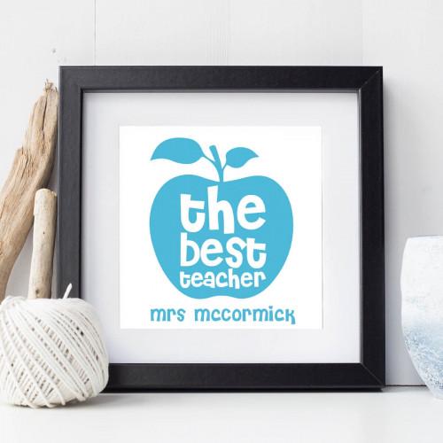 personalised Best Teacher Wall Art