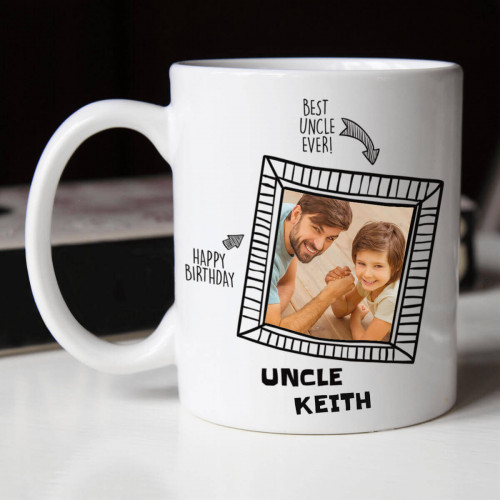 Personalised Awesome Uncle Photo Frame Durham Mug