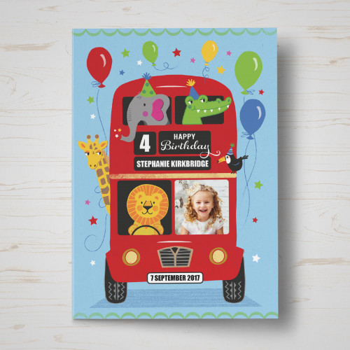 Personalised The Birthday Bus Birthday Card