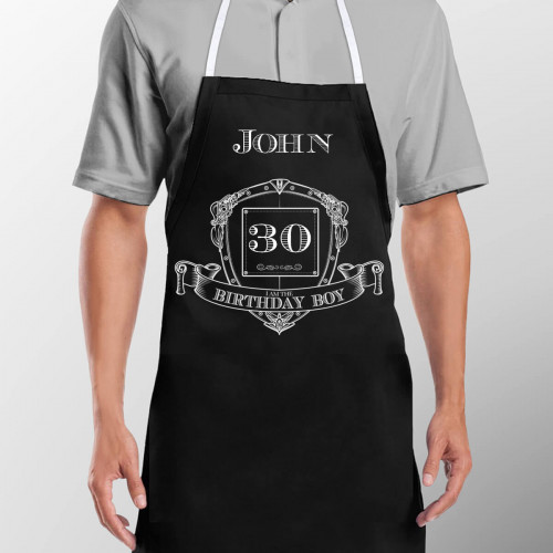 Personalised Birthday Boy Apron