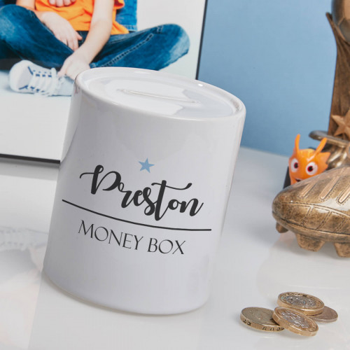 personalised boys star name money box