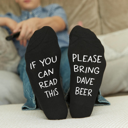 personalised bring me beer socks