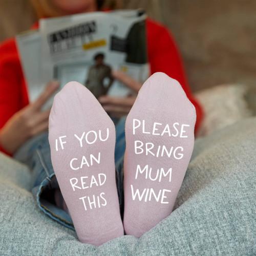 personalised bring me wine socks