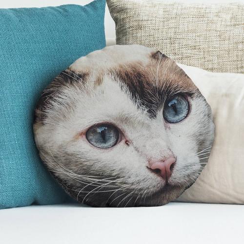 """Personalised Round Cushion 18x18"""" (Stone)"""