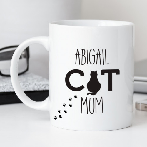 personalised Cat Mum Durham Mug