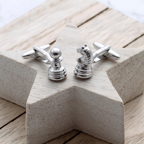 personalised Chess Cufflinks Gift Set