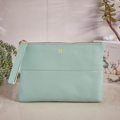 personalised Courtney Handbag Mint