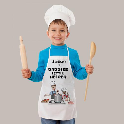 Personalised Daddies Helper Apron