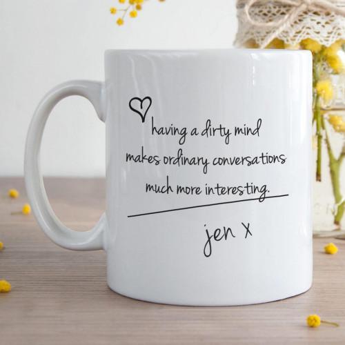 Personalised Dirty Minds More Interesting Durham Mug