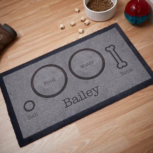 personalised dog food mat