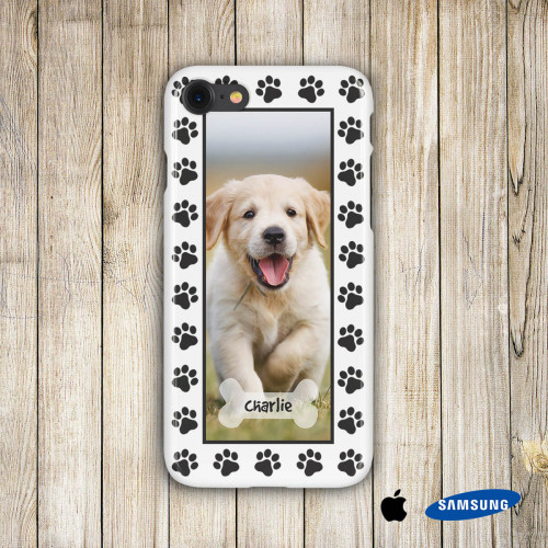 personalised Dog Paw Phone Case