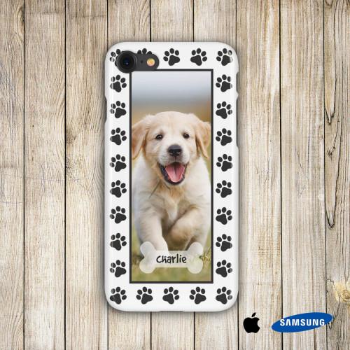 personalised Dog Paw Phone Case