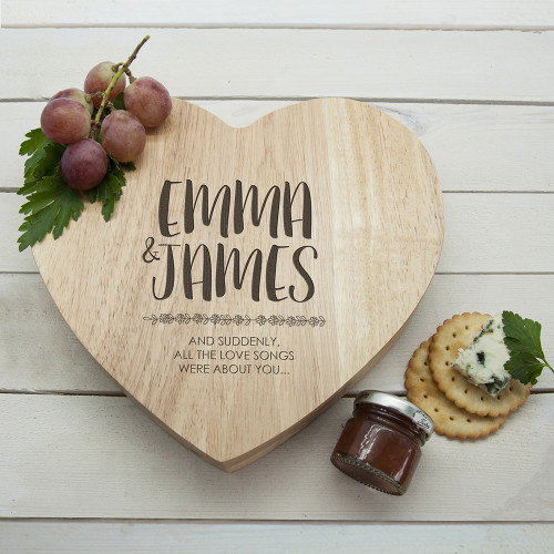 personalised All About You Cheese Board