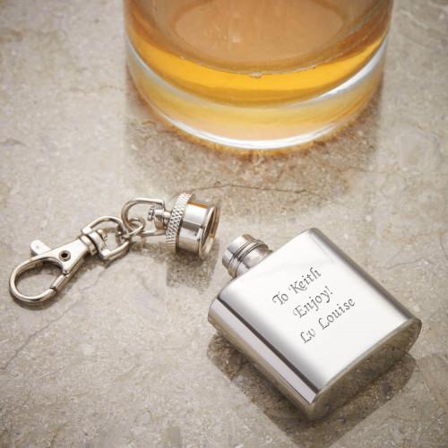 Personalised 1oz Keyring Flask