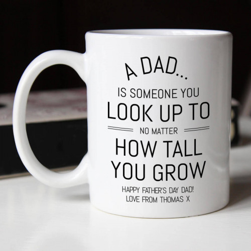 personalised Look Up To Dad Durham Mug