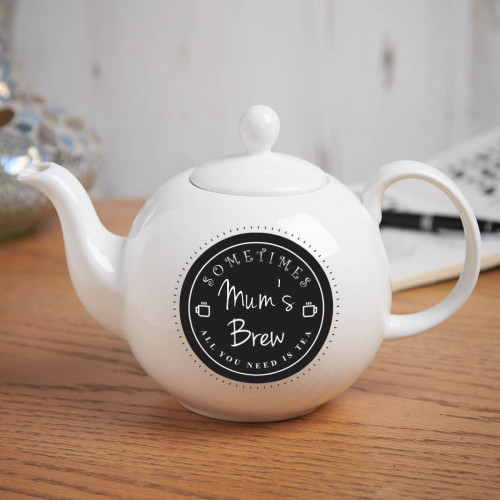 personalised All you need is Tea Pot Belly Teapot