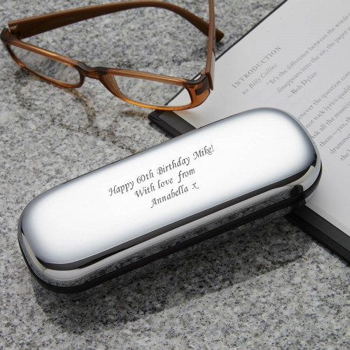60th Personalised Chrome Glasses Case 2
