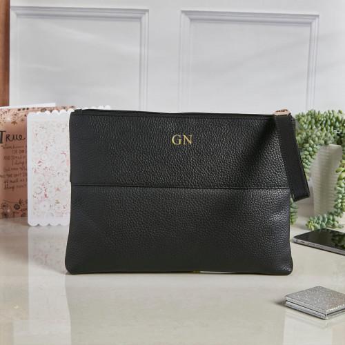 personalised Courtney Handbag Black