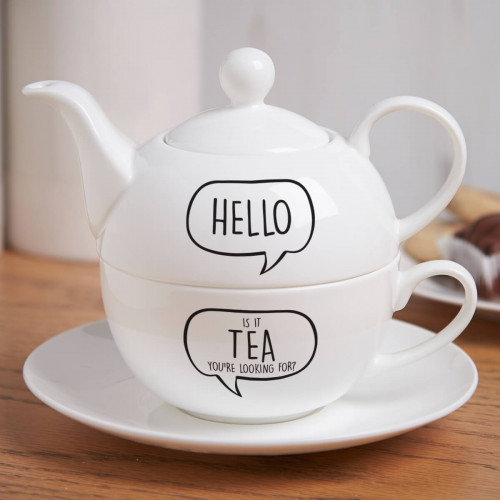 Personalised Hello Is It Me Tea For One Teapot