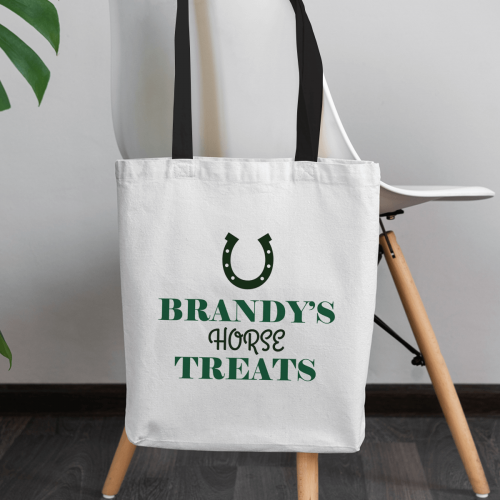 personalised Horse Treats Canvas Tote Bag