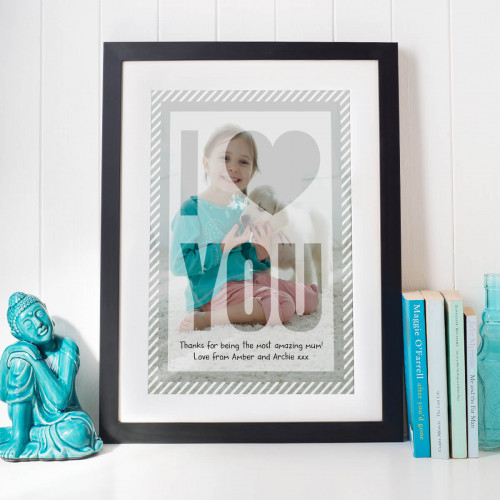 personalised A3 Framed Photo Print