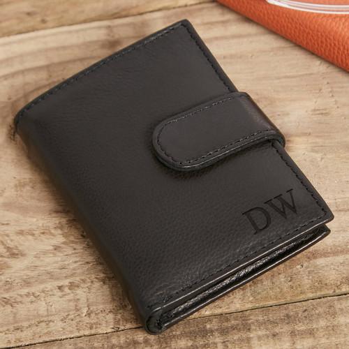personalised Ricky Credit Card Holder Black