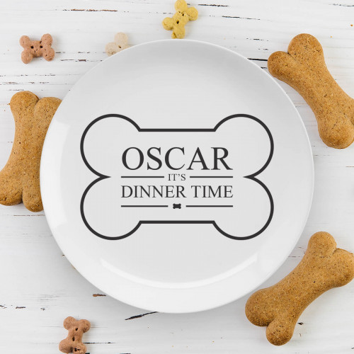 personalised dogs dinner plate