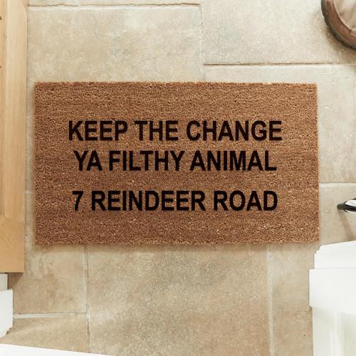 personalised festive doormat