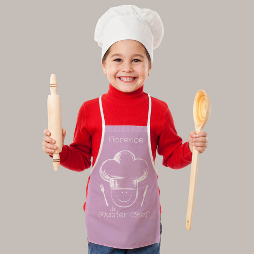 Personalised Kids Chef Pink Apron